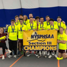 Boys Indoor Track Team Wins Section 3 Class C/D Team Title